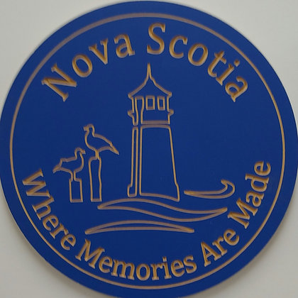 "PREMADE 16"" carved round ""NS memories"""