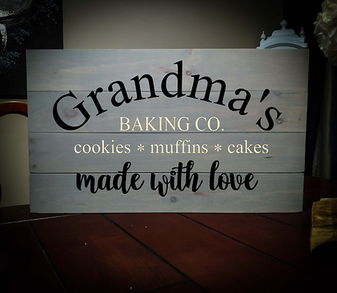 "Rustic Wooden Sign Project ""Baking Co"" 14""x24"""