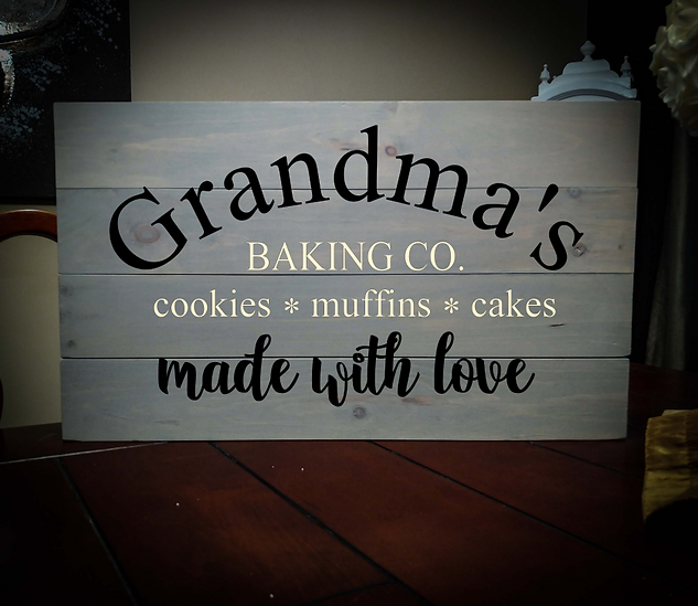 14x24 baking co. rustic sign