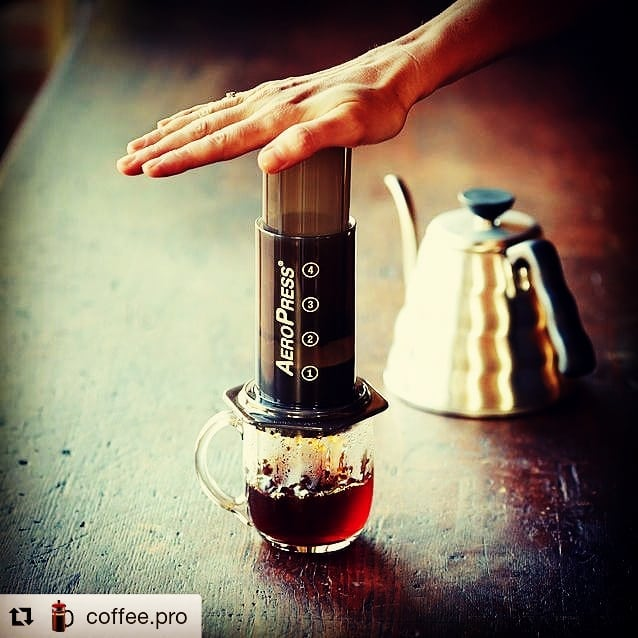 The mighty aeropress! #aeropress #coffee