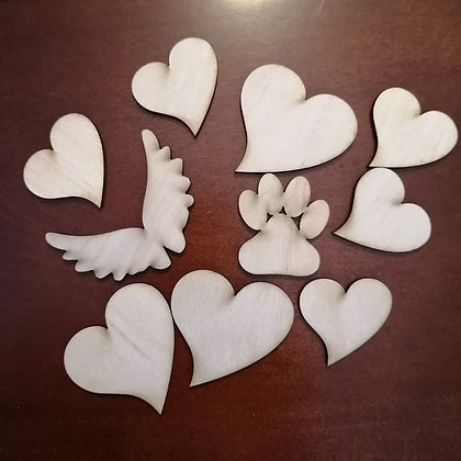 """3D ADD-ON PACK  of 10 for """"Family Tree""""  engraved"""