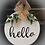 "Thumbnail: Round Wooden Sign ""Hello""  15"" round"