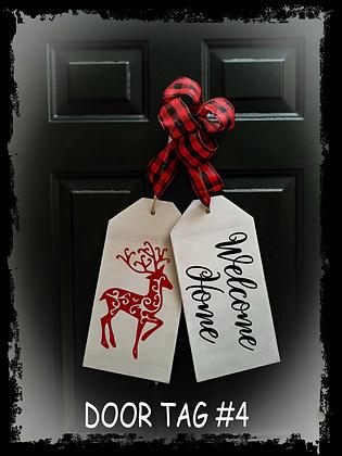 """Wooden project Door Tags """"Welcome Home / Deer"""""""
