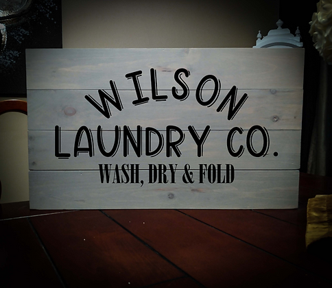 """Rustic Wooden Sign Project """"Laundry Co"""" 14""""x24"""""""