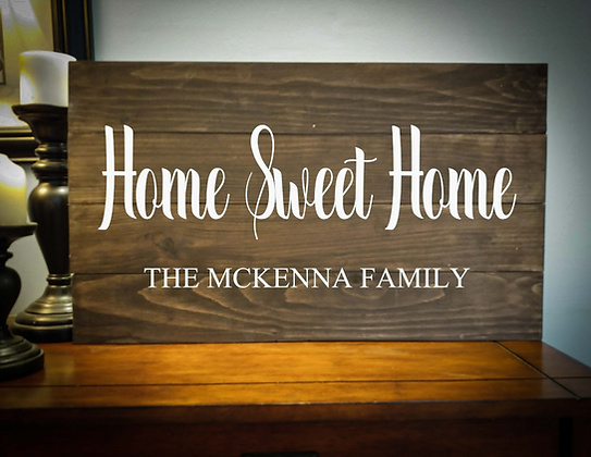 "Rustic Wooden Sign project ""Home Sweet Home"" 14""x24"""
