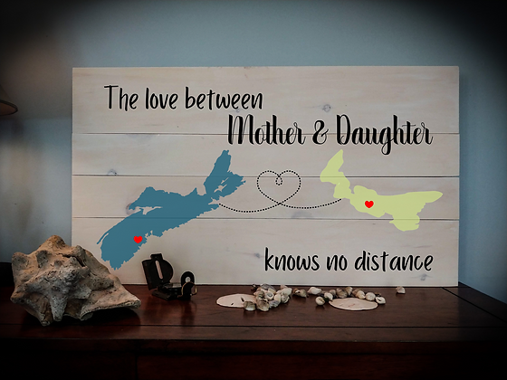 "Rustic Wooden Sign project ""2 maps / 2 names""  18""x32"""