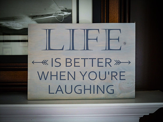 "Rustic Wooden Plank project ""Life is Better""   12""x16"""
