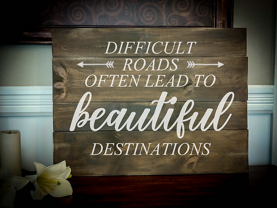 "Rustic Wooden Sign Project ""Beautiful Destinations""   18""x 24"""