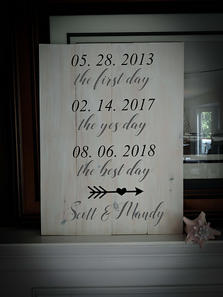 "Rustic Wooden Sign project ""Yes Day""   18""x 24"""
