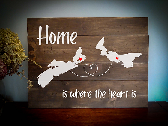 "Rustic Wooden Sign  ""Home is where the Heart is""  18""x24"" Fully Finished"