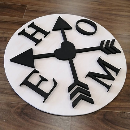"""3D wooden Sign Project """" Home Compass"""" 11""""x32"""" DIY"""
