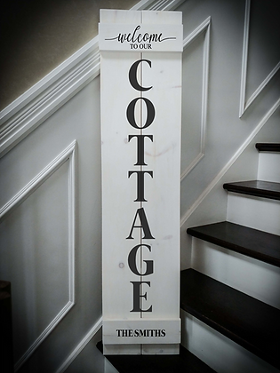 """Welcome to our COTTAGE Personalize"" Large Porch Sign Project 11x48"