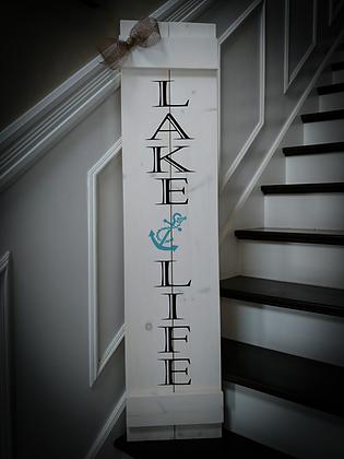 """LAKE LIFE"" Large Porch Sign 11""x48"""