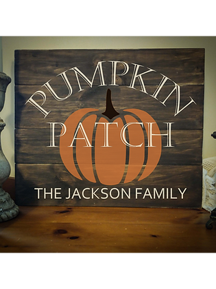 "Rustic Wooden Sign Project ""Pumpkin Patch"" 20""x24"""