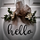 "Thumbnail: Round Wooden Sign ""Hello""  15"""