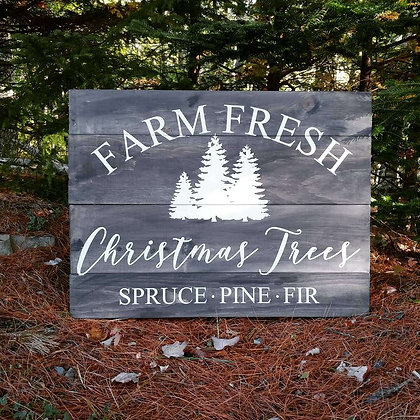 """Rustic Wooden project - """"Christmas trees"""" 18x24"""