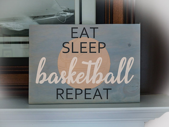 "Wooden plank project 12""x16"" ""basketball"""