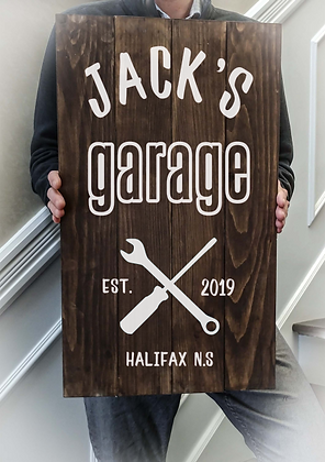 """Rustic Wooden Sign Project """"Garage"""" 14""""x24"""""""