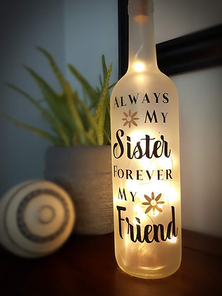 Lighted Bottle with Verse ( Family themes )
