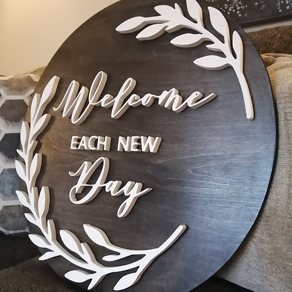 """CUSTOM DIY Wooden Sign Project """" house no. plus street"""" 23.5"""" round DIY"""