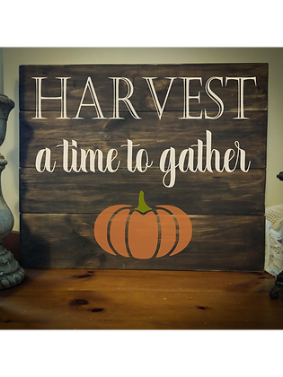 "Rustic Wooden Sign Project ""Harvest"" 20""x24"""