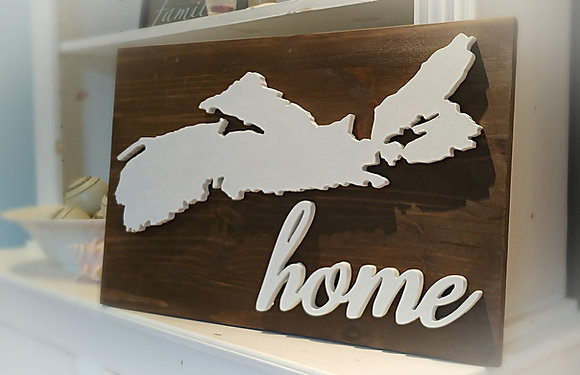 "3D wooden sign project ""Map+Home""   15""x24"""