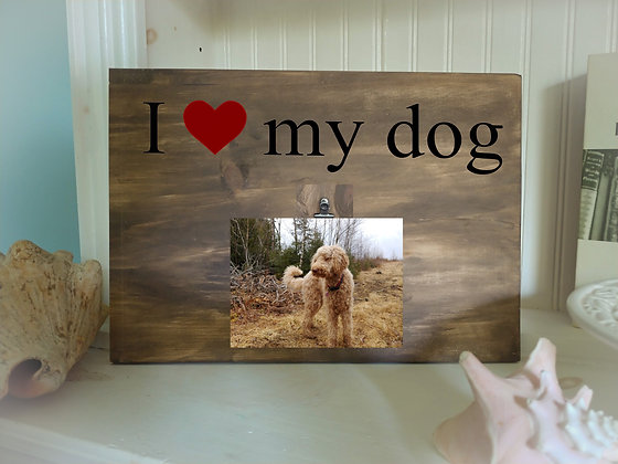 """Rustic Wooden Plank / Frame Project """"Love my PET""""   12""""x16"""""""