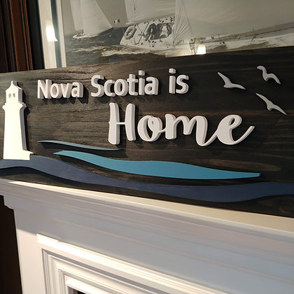 "3D sign - Lighthouse ""NS is Home""11""x32""  fully finished"