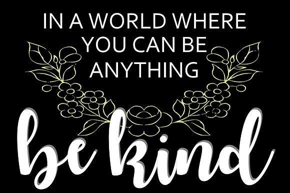 "3D/ Stencil Sign Project 16x24MDF ""Be Kind"""