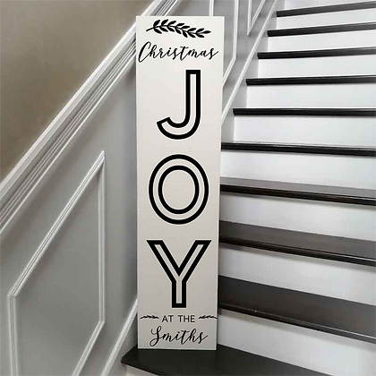 "Hearth Sign Project 12x48MDF ""JOY"" Surname"