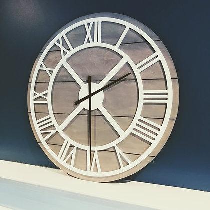 "3D clock - Roman Round on Slatboard -  23.5""  round fully finished"