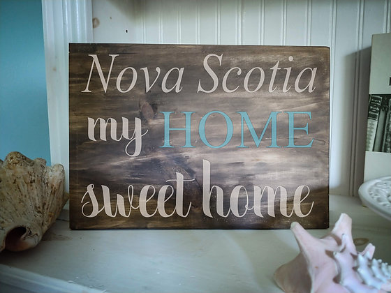 "Rustic Wooden Plank project ""Nova Scotia""   12""x16"""