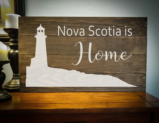 "Rustic Wooden Sign Project ""NS Lighthouse"" 14""x24"""
