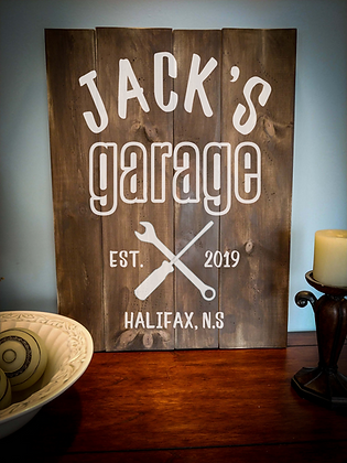 "Rustic Wooden Sign Project ""Garage""   18""x 24"""