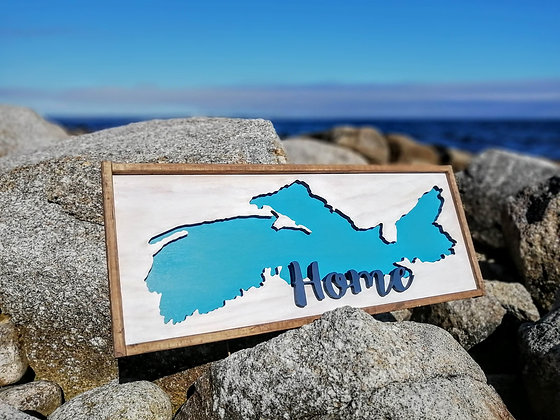 3D sign - NS Map Cutout framed -  13x34  fully finished