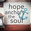 "Thumbnail: Rustic Wooden Sign ""Hope Anchors the Soul"" 20""x24"""