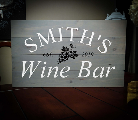 "Rustic Wooden Sign Project ""Wine Bar"" 14""x24"""