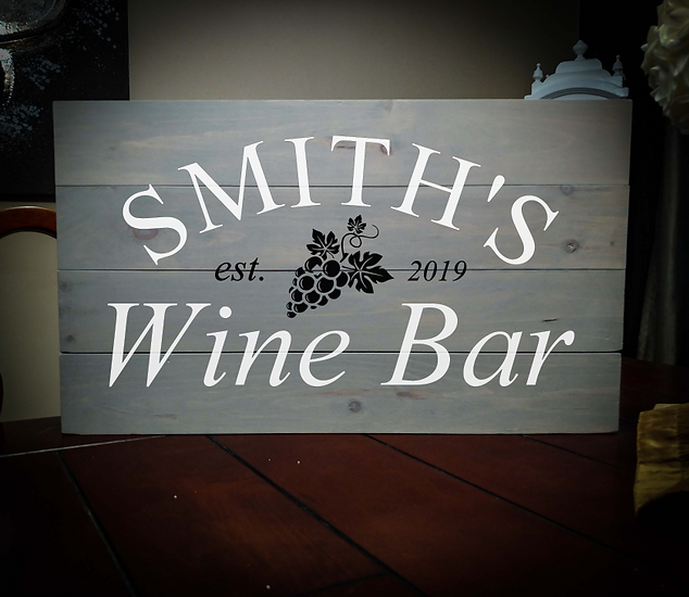 14x24 wine bar rustic sign