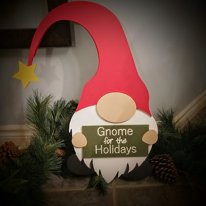 "3D Project ""Christmas Gnome"" 24"" high"