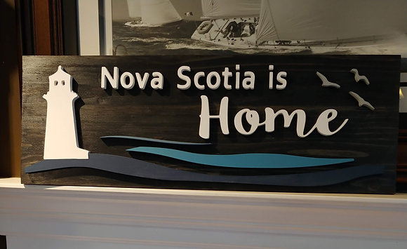 "PREMADE 3d sign ""NS is home lighthouse"" 11x32"""