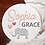 """Thumbnail: 3D sign - Two Names - Elephant 23.5"""" Beadboard round fully finished"""
