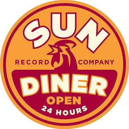"CUSTOM 3D sign Sun diner - 23.5"" round"