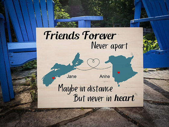 "Rustic Wooden Sign project ""2 Maps / Friends Forever""  18""x24"""