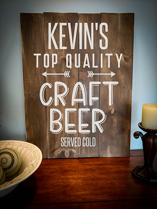 "Rustic Wooden Sign Project ""Craft Beer""   18""x 24"""