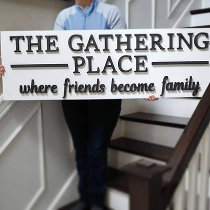 "3D sign - ""Gathering Place"" 15""x48""   fully finished"