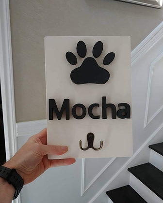 """3D sign - """"Leash holder"""" 8""""x12""""   fully finished"""