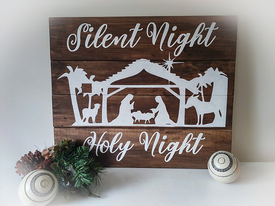 "Rustic Wooden project - ""Nativity""20x24"