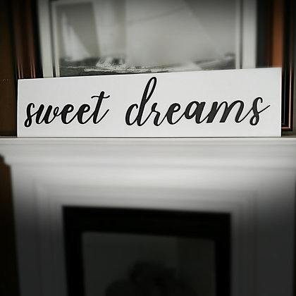 """3D wooden sign project """"Sweet Dream""""  11""""x48"""""""