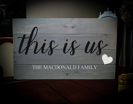 """Rustic Wooden Sign Project """"This Is Us"""" 14""""x24"""""""
