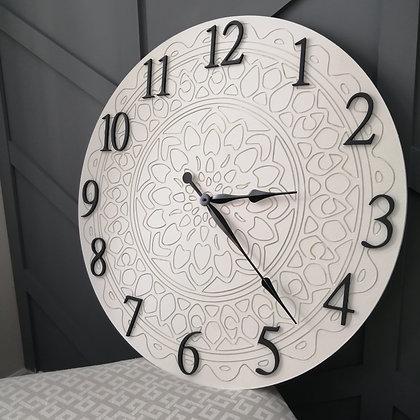 """3D Clock - Mandela XL -  30""""  round fully finished"""